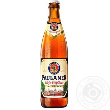 Пиво Пауланер Хефе-Вайсбир светлое нефильтрованное пастеризованное стеклянная бутылка 5.5%об. 500мл Германия