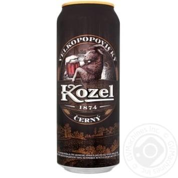 Vlekopopovicky Kozel dark beer can 3,8% 0,5l