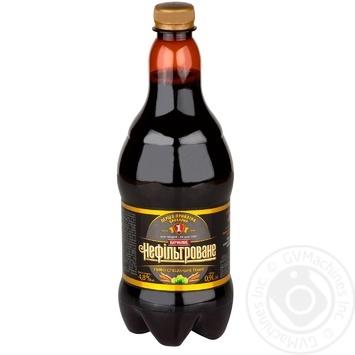 Пиво специальное Перша приватна броварня Бочковое нефильтрованное темное 4,8% 0,9л