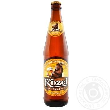 Пиво Velkopopovicky Kozel светлое фильтрованное пастеризованное 4% 0,45л