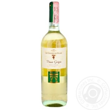 Вино Le Colline dei Filari Pinot grigio белое сухое 12% 0,75л