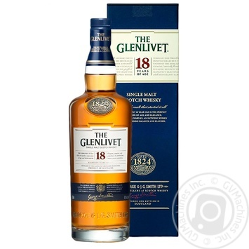 The Glenlivet 18 Yrs Whisky 43% 0.7l - buy, prices for CityMarket - photo 1