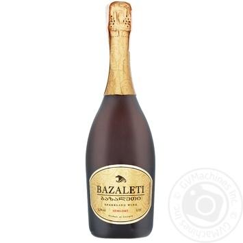 Вино игристое Bazaleti белое полусухое 12,5% 0,75л - купить, цены на Novus - фото 6