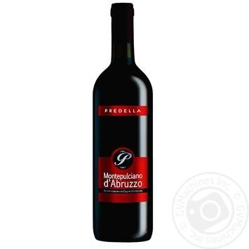 Вино Pridella Монтепульчано ДеАбруццо красное сухое 12% 0,75л
