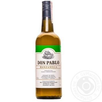 Вино Don Pablo Херес Мансанилья белое сухое 15% 0,75л