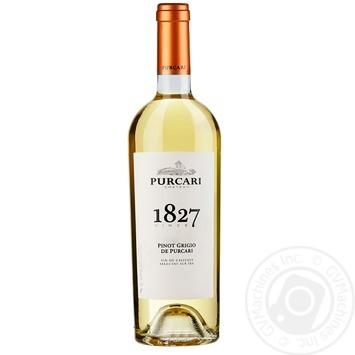 Вино Purcari Піно Гріджіо витримане біле сухе 13,5% 0,75л - купити, ціни на Метро - фото 1