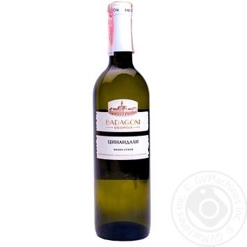 Вино Badagoni Цинандалі біле сухе 13% 0,75л