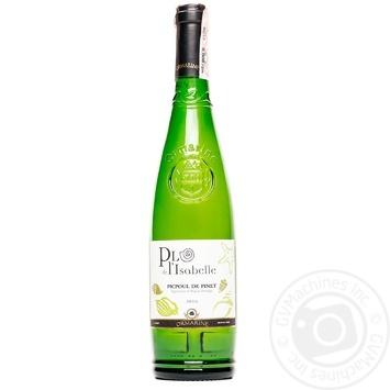 Вино Plo de l'Isabelle Picpoul de Pinet белое сухое 13% 0,75л