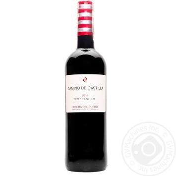 Вино Caminо de Castilla Tempranillo красное сухое 13% 0,75л