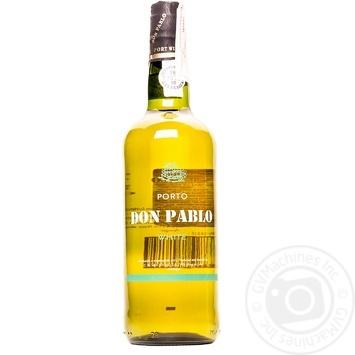 Вино Don Pablo Портвейн белое сухое 19% 0,75л