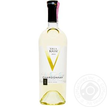 Вино Villa Krim Шардоне сухе біле 9,5-13% 0,75л - купити, ціни на Ашан - фото 1