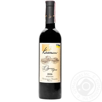 Вино Колоніст Одеське Чорне сухе червоне сортове витримане 13,5% 0,75л