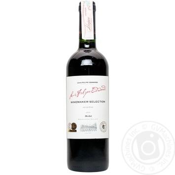 Вино Luis Felipe Edwards Мерло красное сухое 14% 0,75л