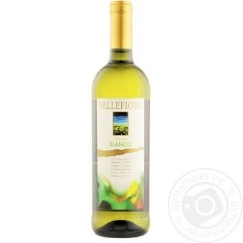 Вино Vallefiore Bianco белое сухое 11% 0,75л