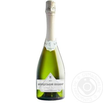 Шампанское Украины Французский бульвар Special Edition белое брют 10,5-12,5% 0,75л