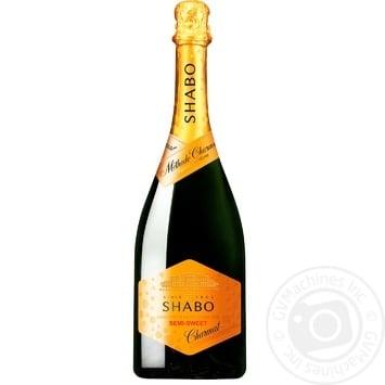Вино игристое Shabo белое полусладкое 0,75л - купить, цены на Ашан - фото 1