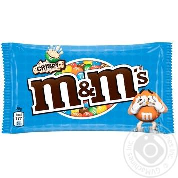 Драже M&M's с рисовыми шариками в молочном шоколаде и разноцветной глазури 36г - купить, цены на МегаМаркет - фото 1