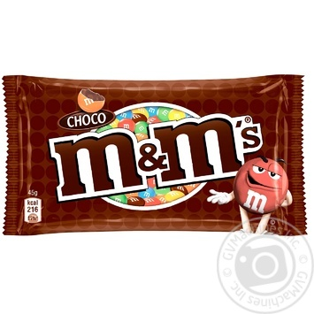 M&M'S With Milk Chocolate Dragee 45g - buy, prices for MegaMarket - image 1