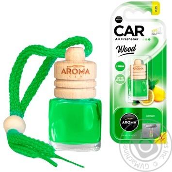 Ароматизатор Aroma Car Wood лимон 6мл - купить, цены на Таврия В - фото 1