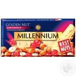 Шоколад Millennium Golden Nut белый с цельными лесными орехами и клюквой 100г - купить, цены на Ашан - фото 1