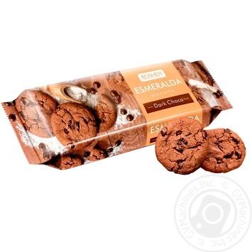 Печиво Roshen Есмеральда з какао та шматочками глазурі 150г