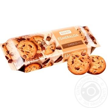 Печенье Рошен Эсмеральда сдобное какао-глазурь 150г - купить, цены на Novus - фото 1