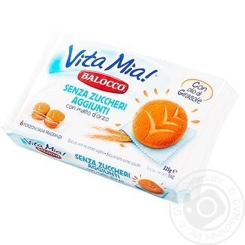 Печенье Balocco Vita Mia! без сахара 325г - купить, цены на Метро - фото 1