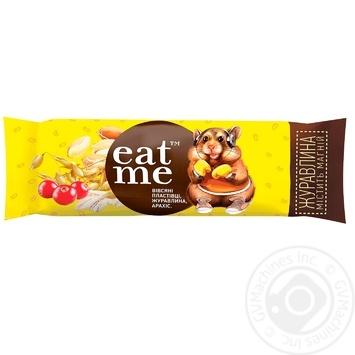 Цукерка Eat me Зерновий батончик з журавлиною 30г - купити, ціни на МегаМаркет - фото 1