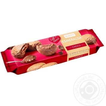 Печиво здобне Roshen з начинкою есмеральда soft heart choco 170г - купити, ціни на МегаМаркет - фото 1