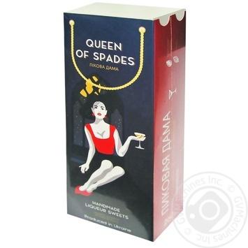 Конфеты Пиковая дама с ликером коробка 260г