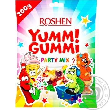 Цукерки Roshen Yummi Gummi Party mix 200г - купити, ціни на ЕКО Маркет - фото 1