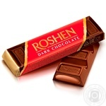 Roshen dark chocolate candy bar 43g