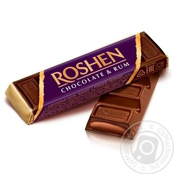Батончик Roshen шоколадный с ромовой начинкой 43г - купить, цены на МегаМаркет - фото 1