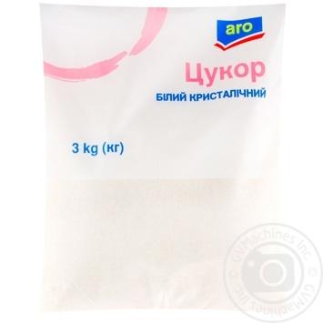 Сахар Aro белый кристаллический 3кг - купить, цены на Метро - фото 1