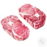 Ribeye beef loin steak chilled