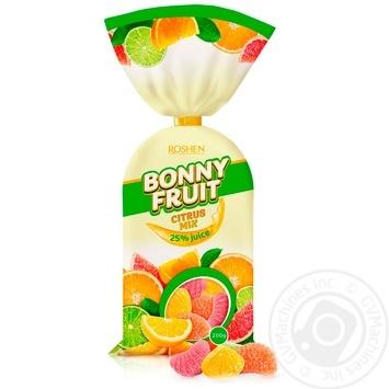 Конфеты желейные Roshen Bonny-Fruit цитрусовый микс 200г - купить, цены на Novus - фото 1