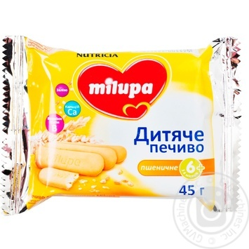 Печенье Nutricia Milupa пшеничное детское для детей от 6 месяцев 45г