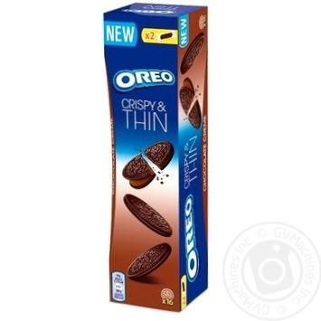 Печиво Oreo тонке з какао та начинкою какао 96г