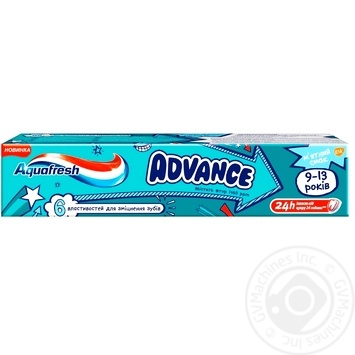 Aquafresh Advance Toothpaste baby 9-13 years 75ml - buy, prices for Auchan - photo 1