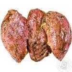 Стейк свиной из ошейка в маринаде охлажденный весовой - купить, цены на Varus - фото 1