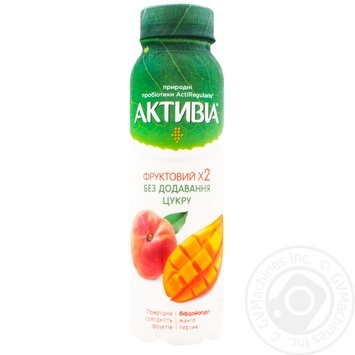 Activia Bifidoyogurt drinking without sugar Mango-Peach 1.2% 270g - buy, prices for MegaMarket - image 1