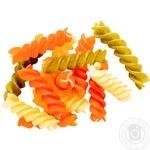 Макароны Фузили трехцветные из твердых сортов пшеницы весовые