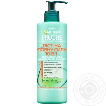 Garnier Fructis Remedy for weakened hair Growth at full strength 10in1 without rinsing 400ml