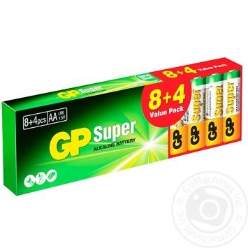 Батарейка GP Super 15A8/4-2UE12 АА щелочная 12шт