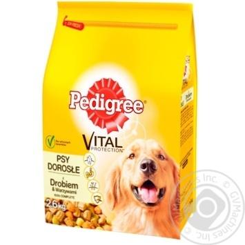 Корм Pedigree для дорослих собак яловичина птиця 2,6кг - купити, ціни на Ашан - фото 1