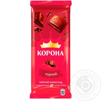 Шоколад Корона черный 85г - купить, цены на Varus - фото 1