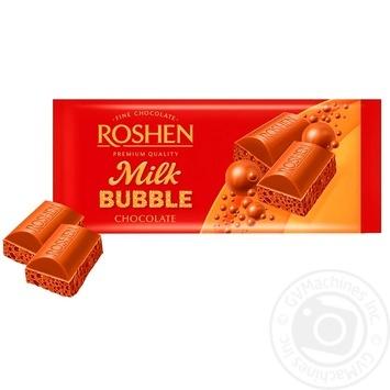 Шоколад Roshen пористый молочный 80г - купить, цены на Varus - фото 1