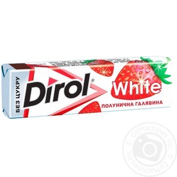 Dirol White Strawberry Chewing Gum 14g - buy, prices for Novus - photo 1