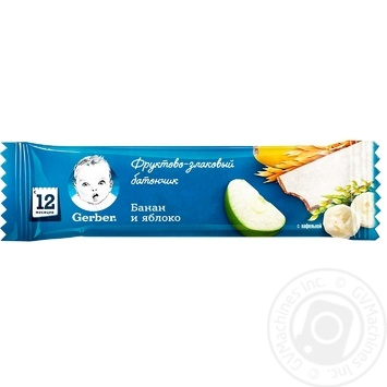 Gerber Bar cereal banana-apple 25g - buy, prices for Auchan - photo 1