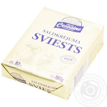 Масло Cesvaines 82% сладкосливочное 180г